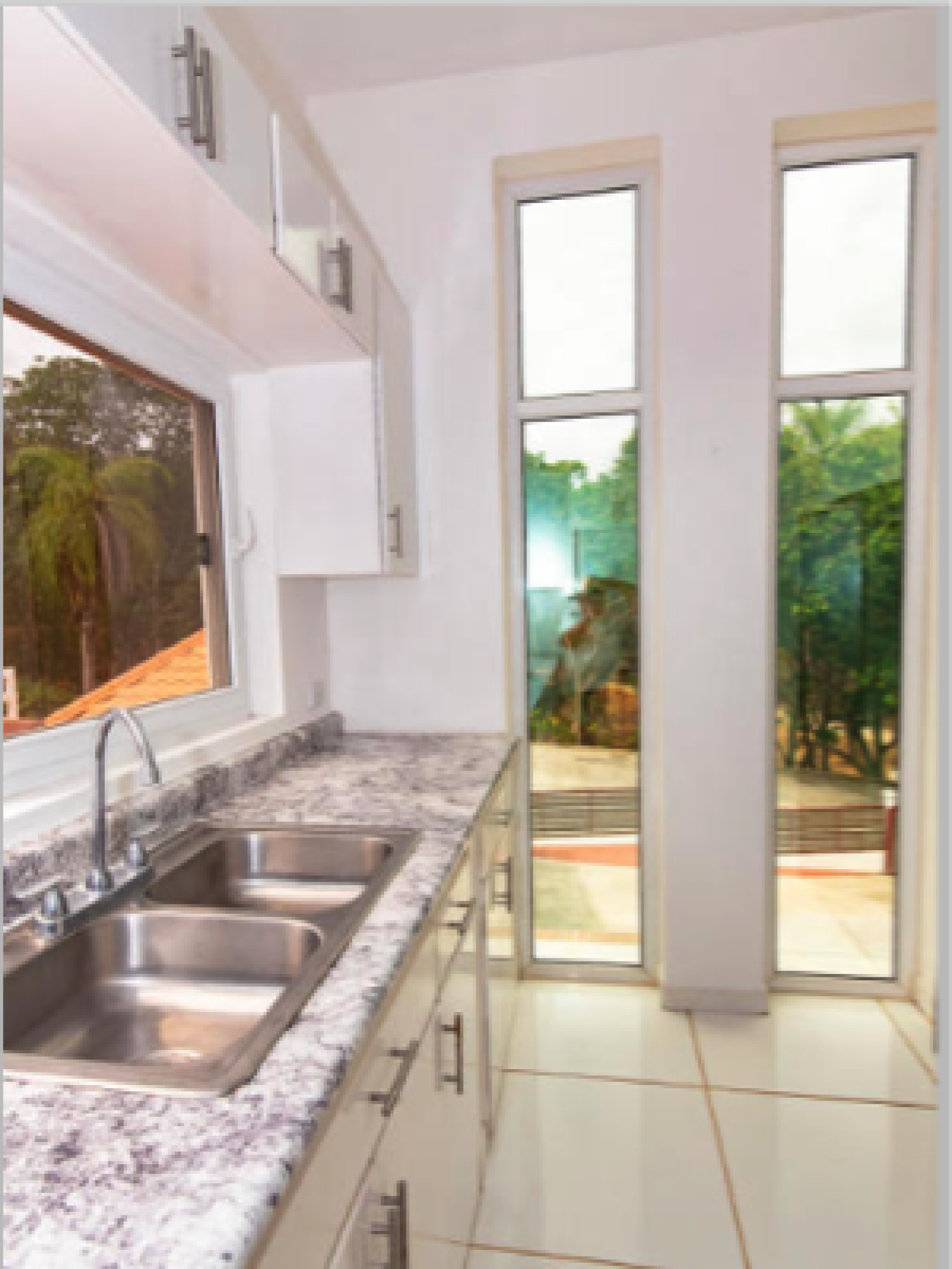 Lovely views from your bright kitchen