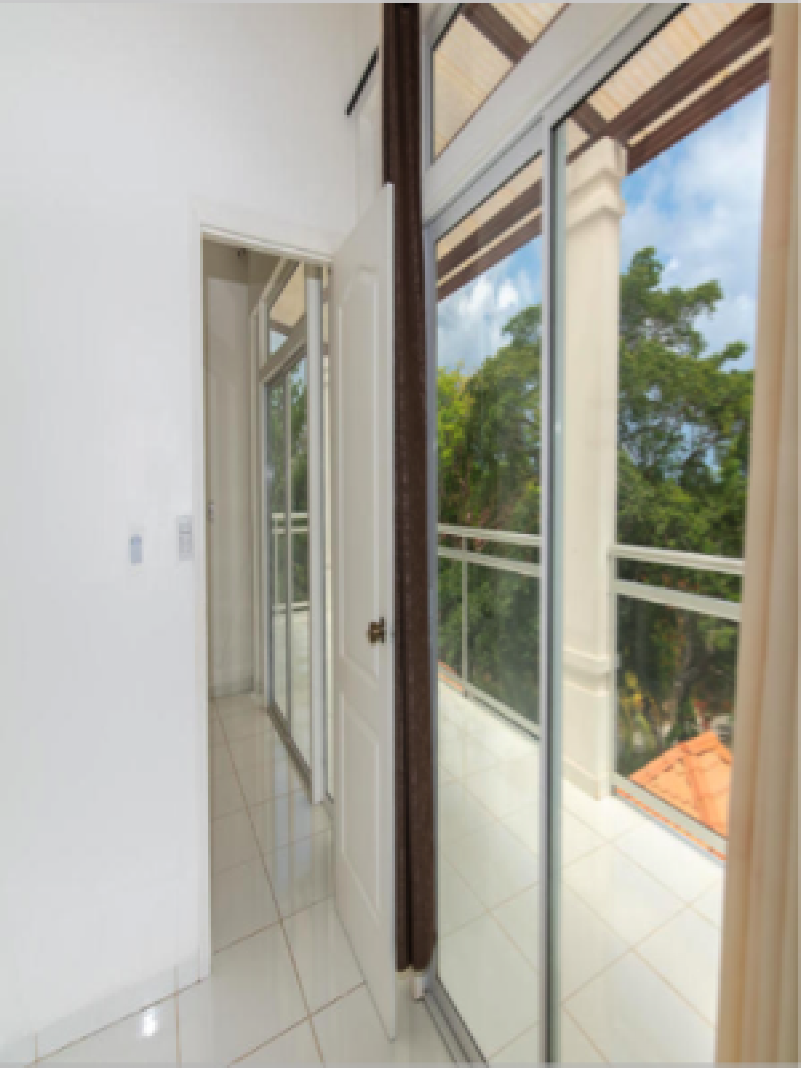 Views onto terrace from second master bedroom